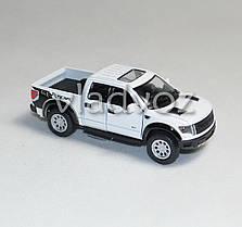 Машинка Ford Raptor Spercrew 150 1:32 метал белый, фото 3
