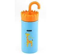 Термосы со скидкой для чая большой Giraffe голубой ( жираф )