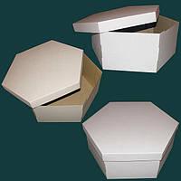 Коробка для торта шестиугольной формы