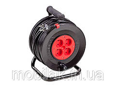 Подовжувач на котушці У16-01 ПВС 2х1,5 без теплозахисту шнура 50м ТМ ЛЕМІРА