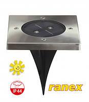 Встраиваемый садово-парковый солнечный светильник Ranex LED Solar IP44 с датчиком освещенности