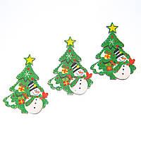 """Комплект елочных игрушек """"Снеговик у елки"""" (007NY)"""