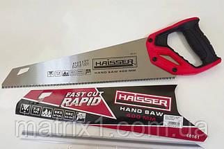 Ножовка по дереву, 400 мм, 7 TPI, зуб - 3D, каленый зуб, двухкомпонентная рукоятка// HAISSER