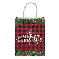 """Пакет подарочный красивый бумажные подарунковий пакет новогодние 2021 """"Merry Christmas"""" 31*24.5*10.5 см"""