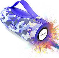 Колонка ZEALOT S29 Dark blue Camouflage беспроводная радиус 10 м павер банк 5 Вт * 2 ФМ радио блютуз 5.0