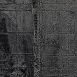 Плед однотонный серый Клетка 150x200см микрофибра, фото 2