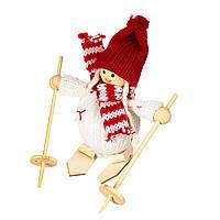 """Мягкие игрушки плюшевые новогодние оригинальные на подарок """"Девочка на лыжах"""" (001NV)"""