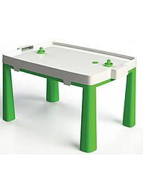 Стіл дитячий + аерохокей комплект для гри DOLONI TOYS Зелений КОД: roy_arp456Z045802