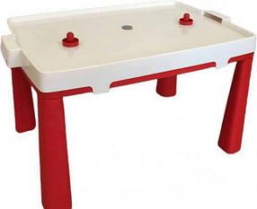Стіл дитячий + аерохокей комплект для гри DOLONI TOYS Червоний КОД: roy_arp456K045805