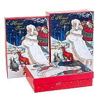 """Набор коробок для подарков подарочные 3-х коробок """"Новогодняя открытка"""" 29*21*9,5 (8211-063)"""
