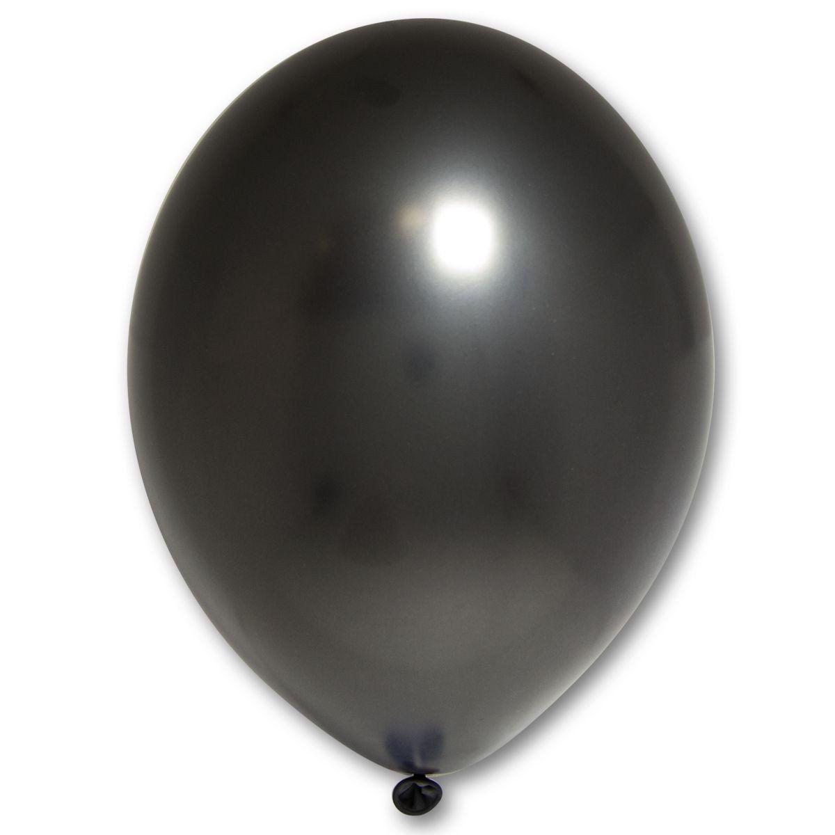 """Кулька 12""""/30 чорний 090 латекс металік ТМ """"Belbal"""" однотонний шт."""