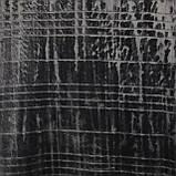 Плед однотонный серый Клетка 150x200см микрофибра, фото 3