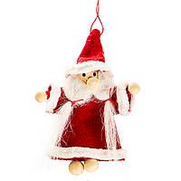 """Мягкие игрушки плюшевые новогодние оригинальные на подарок """"Дед Мороз с двойной бородой"""" (010NV)"""