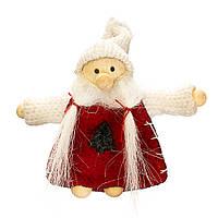 """Мягкие игрушки плюшевые новогодние оригинальные на подарок """"Белый гном"""" (007NV)"""