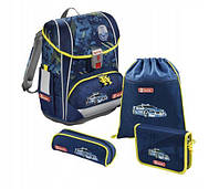 Шкільний рюкзак для хлопчиків HAMA Step By Step LIGHT II CITY + 2 пенала + сумка для спортивного взуття