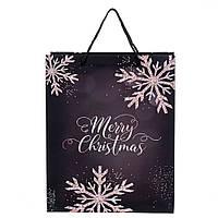 """Пакет подарочный красивый бумажные подарунковий пакет новогодние 2021 """"Феерия"""" 32*26*12 (8209-011)"""