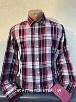 Чоловіча сорочка тепла в клітинку з довгим рукавом XL-44