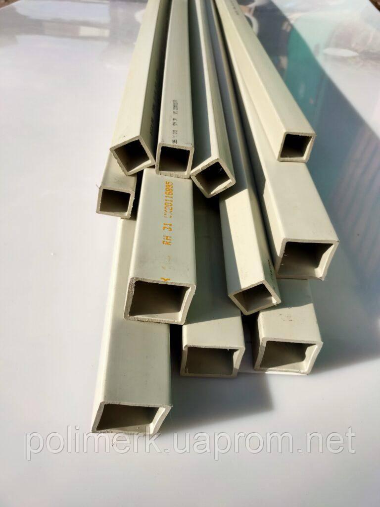 Труба квадратная/профильная, PP, 50х50х4,0мм L=5000мм, серая 4-0-mm