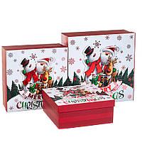 """Набор коробок для подарков подарочные 3-х коробок """"Веселые друзья"""" 28*28*11 (8211-067)"""