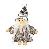 """Мягкие игрушки плюшевые новогодние оригинальные на подарок """"Гном лесной"""" (016NV)"""