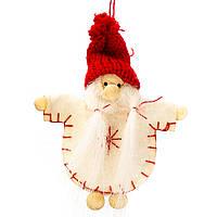 """Мягкие игрушки плюшевые новогодние оригинальные на подарок """"Дед Мороз в белом кафтане"""" (011NV)"""