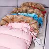 Детский конверт для коляски, санок 4 в 1 Springos SB0017 Pink, фото 9