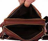 Кожаная сумка красного цвета для мужчин 30109, фото 4