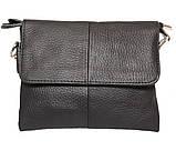 Горизонтальная мужская сумка для карманных вещей из натуральной кожи 300145, фото 2