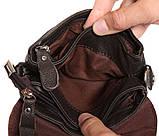 Горизонтальная кожаная сумка через плечо 300146, фото 7