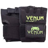 Перчатки с бинтом внутренние гелевые из неопрена Venum, фото 1