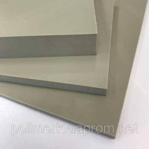 Полипропилен листовой СЕРЫЙ, PP-H  SIMONA Германия 12-mm, jekstruzija, 1500-h3000-mm