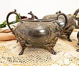 Антикварный посеребренный чайный сервиз, серебрение, Англия, Sheffield H. Land, фото 5