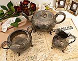 Антикварный посеребренный чайный сервиз, серебрение, Англия, Sheffield H. Land, фото 2
