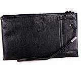 Удобный мужской клатч из натуральной кожи Norton 30703 Черный , фото 6