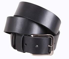 Мужской кожаный ремень Dovhani LD666-17 115-125 см Черный