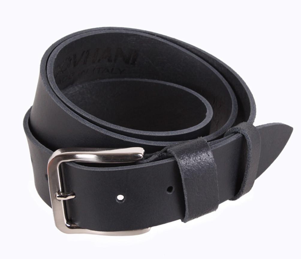 Мужской кожаный ремень Dovhani SP999-15 115-125 см Черный