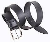 Мужской кожаный ремень Dovhani SP999-15 115-125 см Черный, фото 2