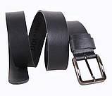 Мужской кожаный ремень Dovhani SP999-16 115-125 см Черный, фото 3