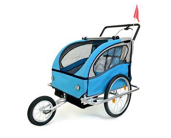 Причіп велосипедний 2-osobowa +JOGGER niebieska Марка Європи