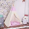 Детская палатка (вигвам) Springos Tipi XXL TIP09 White/Pink, фото 7