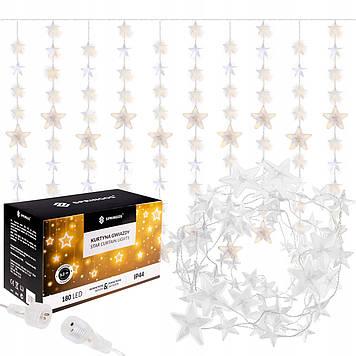 Гирлянда бахрома уличная (наружная) Springos 2 м 180 LED CL4004 Warm White