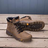 Ботинки зимние Грант натуральная кожа на шерсти сафари, фото 1