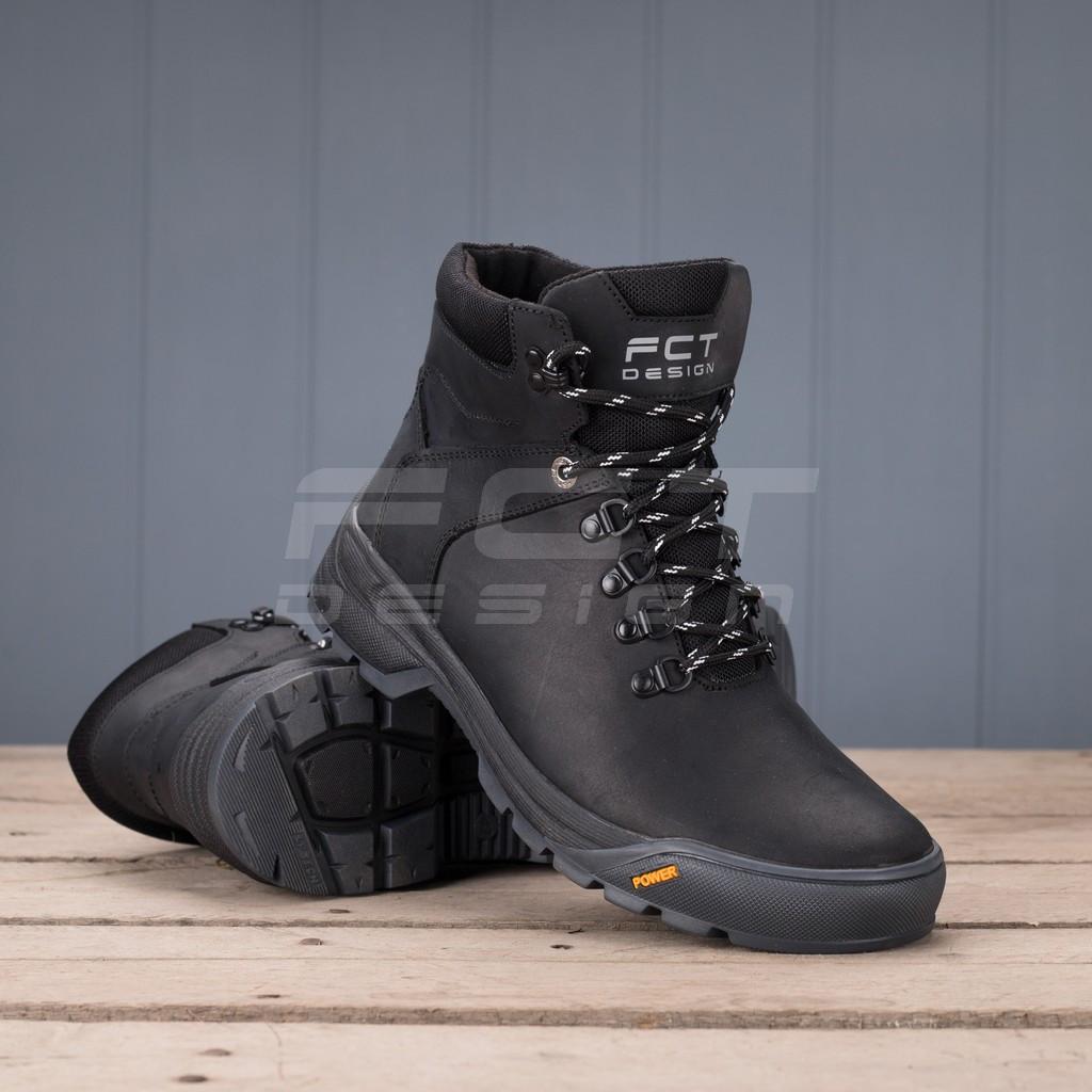 Ботинки зимние Грант натуральная кожа на шерсти черные
