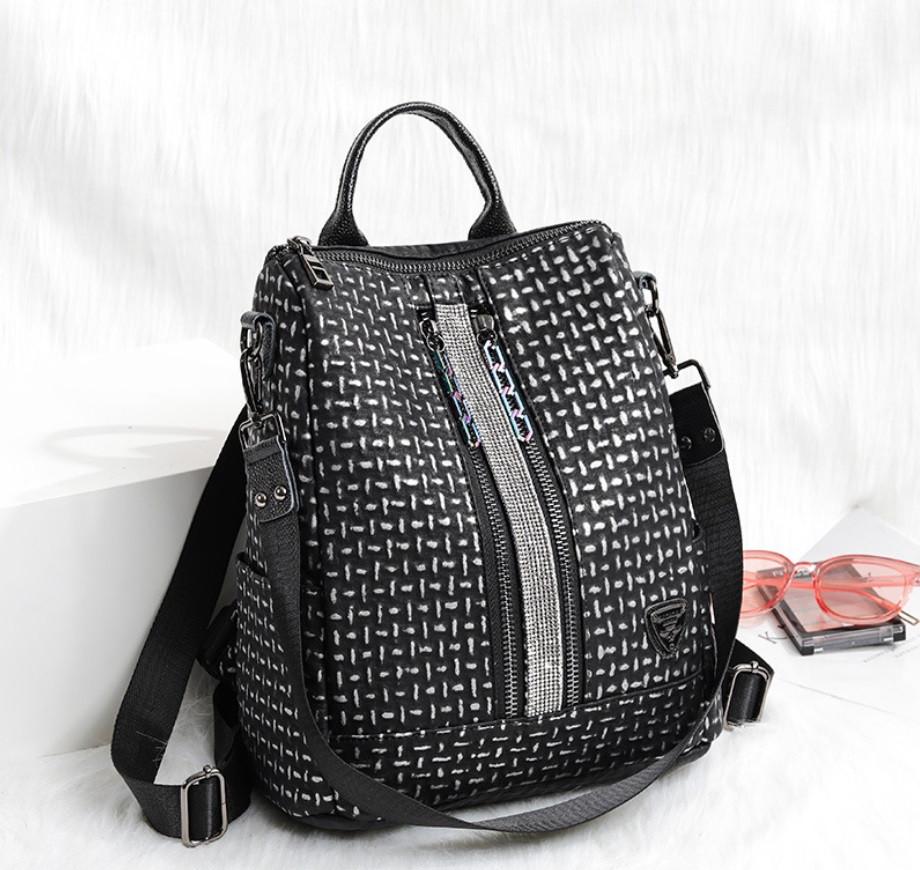 Рюкзак жіночий сумка міської Макрос B7006 15л чорний