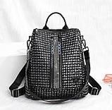 Рюкзак жіночий сумка міської Макрос B7006 15л чорний, фото 2