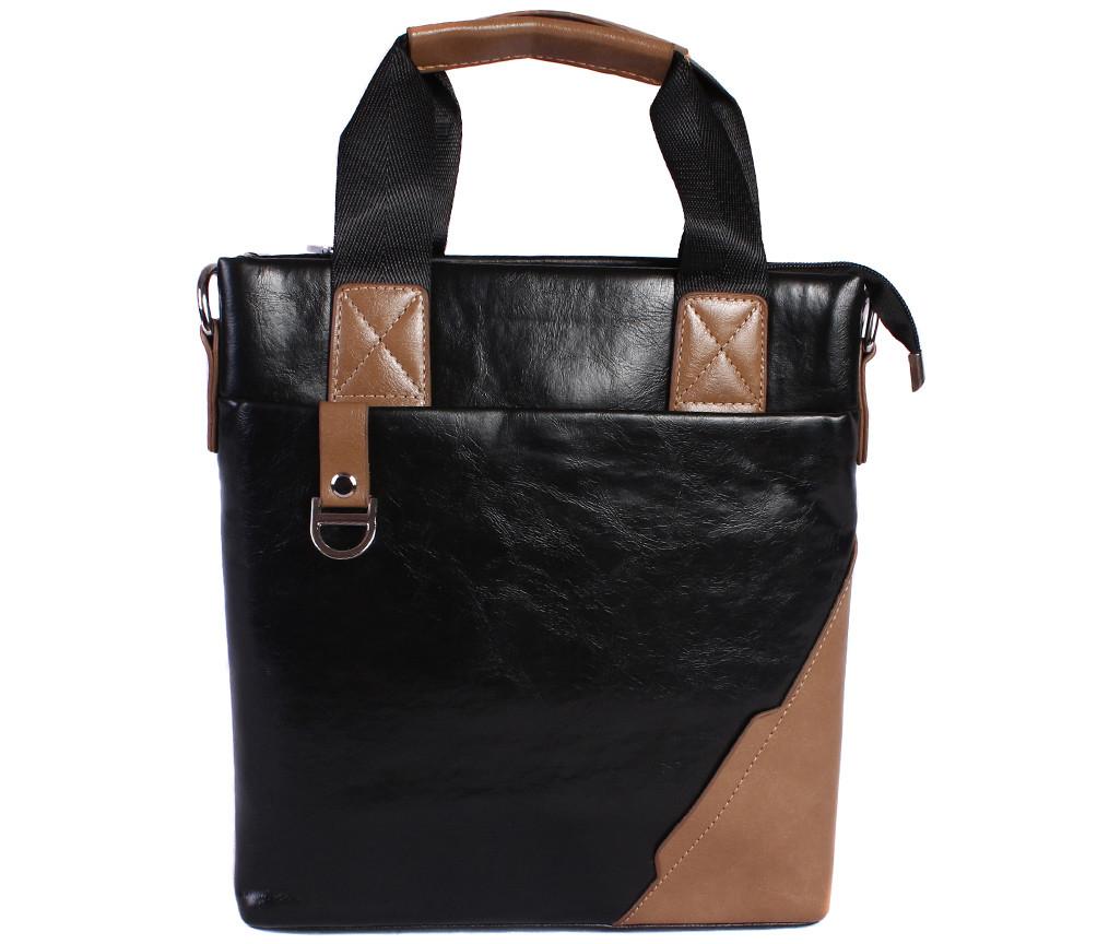 Качественная сумка для нетбука из эко кожи N30921 Черная