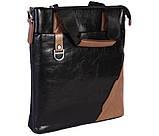 Качественная сумка для нетбука из эко кожи N30921 Черная, фото 2