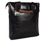Качественная сумка для нетбука из эко кожи N30921 Черная, фото 4
