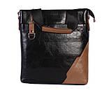 Качественная сумка для нетбука из эко кожи N30921 Черная, фото 5