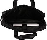 Высококачественная мужская сумка для ноутбука N30819 Черная , фото 6